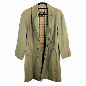 VTG Burberry's London Trench Coat Green Cream 6R